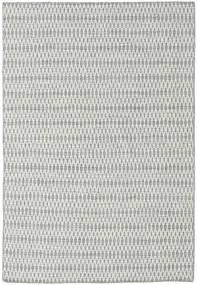 Kilim Long Stitch - Szary Dywan 160X230 Nowoczesny Tkany Ręcznie Jasnoszary/Turkusowy Niebieski (Wełna, Indie)