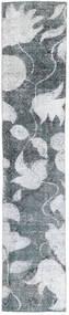Colored Vintage Dywan 68X363 Nowoczesny Tkany Ręcznie Chodnik Niebieski/Biały/Creme (Wełna, Persja/Iran)