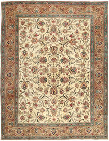 Tebriz Patina Dywan 302X390 Orientalny Tkany Ręcznie Brązowy/Ciemnobeżowy Duży (Wełna, Persja/Iran)