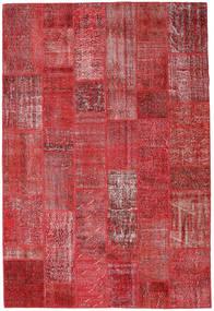 Patchwork Dywan 204X302 Nowoczesny Tkany Ręcznie Ciemnoczerwony/Czerwony (Wełna, Turcja)