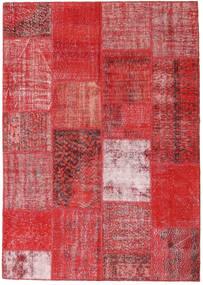 Patchwork Dywan 162X230 Nowoczesny Tkany Ręcznie Rdzawy/Czerwony/Ciemnoczerwony/Czerwony (Wełna, Turcja)
