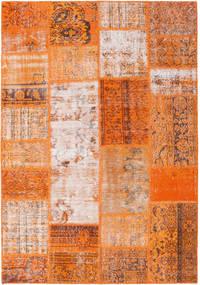 Patchwork Dywan 159X230 Nowoczesny Tkany Ręcznie Pomarańczowy/Jasnobrązowy (Wełna, Turcja)