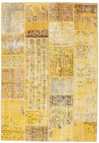 Patchwork Dywan 160X230 Nowoczesny Tkany Ręcznie Ciemnobeżowy/Żółty (Wełna, Turcja)