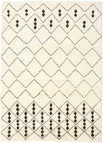 Berber Indie - Off-White/Czarny Dywan 210X290 Nowoczesny Tkany Ręcznie Beżowy/Biały/Creme (Wełna, Indie)
