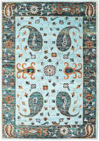 Vega Sari Jedwab - L.blue Dywan 210X290 Nowoczesny Tkany Ręcznie Turkusowy Niebieski/Jasnoszary (Jedwab, Indie)