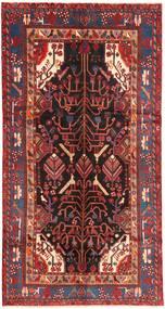 Nahawand Dywan 151X292 Orientalny Tkany Ręcznie Chodnik Ciemnoczerwony/Ciemnobrązowy (Wełna, Persja/Iran)