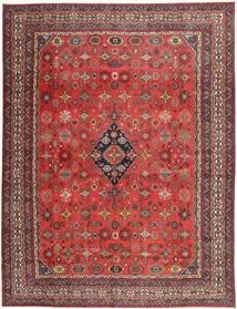 Hamadan Shahrbaf Patina Dywan 313X413 Orientalny Tkany Ręcznie Ciemnoczerwony/Rdzawy/Czerwony Duży (Wełna, Persja/Iran)