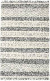 Kilim Berber Ibiza - Czarny I Biały Mix Dywan 200X300 Nowoczesny Tkany Ręcznie Jasnoszary/Ciemnoszary/Ciemnobeżowy (Wełna, Indie)