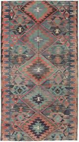 Kilim Tureckie Dywan 163X292 Orientalny Tkany Ręcznie Ciemnoszary/Jasnobrązowy (Wełna, Turcja)
