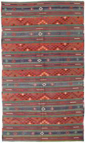 Kilim Tureckie Dywan 170X296 Orientalny Tkany Ręcznie Ciemnoczerwony/Ciemnozielony (Wełna, Turcja)
