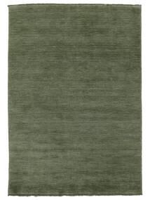 Handloom Fringes - Leśna Zieleń Dywan 160X230 Nowoczesny Ciemnozielony/Ciemnozielony (Wełna, Indie)