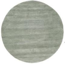 Handloom - Soft Teal Dywan Ø 150 Nowoczesny Okrągły Jasnoszary/Jasnozielony (Wełna, Indie)