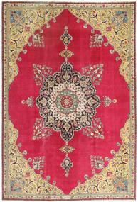 Tebriz Patina Dywan 220X318 Orientalny Tkany Ręcznie Czerwony/Ciemnobeżowy (Wełna, Persja/Iran)