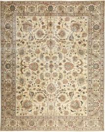 Tebriz Patina Dywan 303X380 Orientalny Tkany Ręcznie Beżowy/Brązowy Duży (Wełna, Persja/Iran)