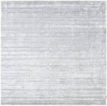 Bamboo Jedwab Loom - Szary Dywan 250X250 Nowoczesny Kwadratowy Biały/Creme/Jasnoszary Duży ( Indie)