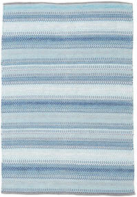Wilma - Niebieski Dywan 120X180 Nowoczesny Tkany Ręcznie Jasnoniebieski/Beżowy (Bawełna, Indie)
