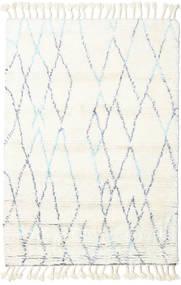 Rana - Natural/Niebieski Dywan 120X180 Nowoczesny Tkany Ręcznie Beżowy/Biały/Creme (Wełna, Indie)