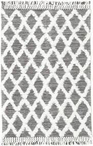 Inez - Ciemnobrązowy/White Dywan 140X200 Nowoczesny Tkany Ręcznie Jasnoszary/Beżowy (Wełna, Indie)