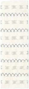 Shedir - White Dywan 80X250 Nowoczesny Tkany Ręcznie Chodnik Beżowy/Żółty (Wełna, Indie)