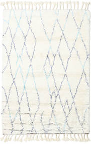 Rana - Natural/Niebieski Dywan 200X300 Nowoczesny Tkany Ręcznie Beżowy/Biały/Creme (Wełna, Indie)