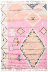 Odda - Różowy Dywan 160X230 Nowoczesny Tkany Ręcznie Jasnoróżowy/Biały/Creme (Wełna, Indie)
