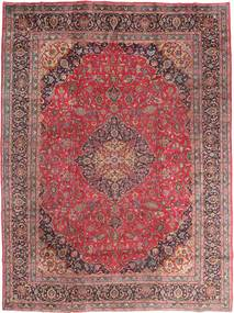 Meszhed Dywan 295X395 Orientalny Tkany Ręcznie Ciemnoczerwony/Brązowy Duży (Wełna, Persja/Iran)