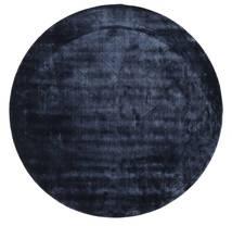 Brooklyn - Ciemnoniebieski Dywan Ø 300 Nowoczesny Okrągły Ciemnoniebieski/Niebieski Duży ( Indie)