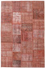 Patchwork Dywan 198X302 Nowoczesny Tkany Ręcznie Ciemnoczerwony/Brązowy (Wełna, Turcja)