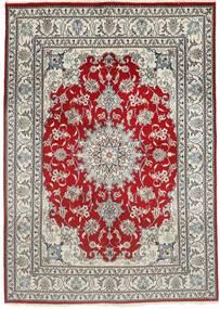 Nain Dywan 150X207 Orientalny Tkany Ręcznie Jasnoszary/Ciemnoczerwony (Wełna, Persja/Iran)