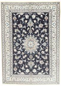 Nain Dywan 145X206 Orientalny Tkany Ręcznie Jasnoszary/Ciemnoszary (Wełna, Persja/Iran)