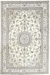 Nain Dywan 196X293 Orientalny Tkany Ręcznie Jasnoszary/Beżowy (Wełna, Persja/Iran)