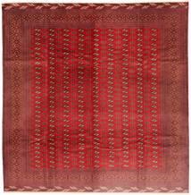 Turkmeński Dywan 310X320 Orientalny Tkany Ręcznie Kwadratowy Ciemnoczerwony/Rdzawy/Czerwony Duży (Wełna, Persja/Iran)