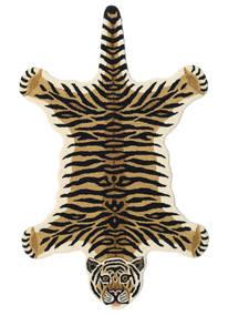 Tiger - Beżowy Dywan 100X160 Nowoczesny Ciemnoniebieski/Beżowy (Wełna, Indie)