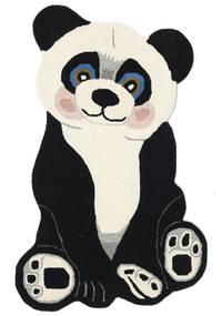Panda Baby Dywan 100X160 Nowoczesny Ciemnoszary/Beżowy (Wełna, Indie)