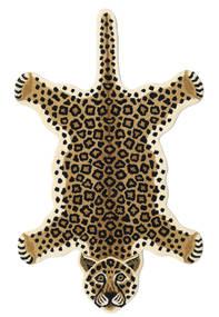 Leopard - Beżowy Dywan 100X160 Nowoczesny Beżowy/Czarny (Wełna, Indie)