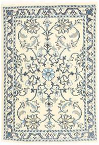Nain Dywan 60X90 Orientalny Tkany Ręcznie Beżowy/Ciemnoszary (Wełna, Persja/Iran)