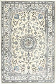 Nain Dywan 198X301 Orientalny Tkany Ręcznie Jasnoszary/Beżowy (Wełna, Persja/Iran)