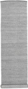 Alva - Ciemnoszary/White Dywan 80X350 Nowoczesny Tkany Ręcznie Chodnik Jasnoszary/Ciemnoszary (Wełna, Indie)