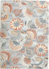 Rusty Flowers - Szary/Rdzawy Dywan 160X230 Nowoczesny Jasnoszary/Beżowy (Wełna, Indie)