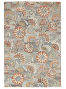 Rusty Flowers - Szary/Rdzawy Dywan 200X300 Nowoczesny Jasnoszary/Ciemnobeżowy (Wełna, Indie)