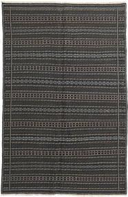 Kilim Dywan 152X235 Orientalny Tkany Ręcznie Ciemnoszary/Czarny (Wełna, Persja/Iran)