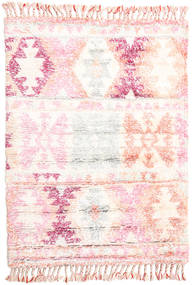 Märta - Różowy Dywan 120X180 Nowoczesny Tkany Ręcznie Beżowy/Jasnoróżowy (Wełna, Indie)