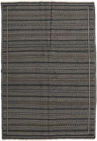 Kilim (Persja) Dywan 160X230 Orientalny Tkany Ręcznie Ciemnoszary/Czarny (Wełna, Persja/Iran)