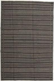 Kilim Dywan 197X298 Orientalny Tkany Ręcznie Ciemnoszary/Jasnoszary (Wełna, Persja/Iran)