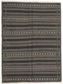 Kilim Dywan 155X210 Orientalny Tkany Ręcznie Ciemnoszary/Czarny (Wełna, Persja/Iran)