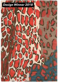 Tilda - 2018 Dywan 160X230 Nowoczesny Ciemnoszary/Czerwony (Wełna, Indie)