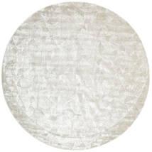 Crystal - Biały Srebrna Dywan Ø 250 Nowoczesny Okrągły Jasnoszary/Ciemnobeżowy/Beżowy Duży ( Indie)