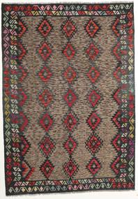 Kilim Afgan Old Style Dywan 175X250 Orientalny Tkany Ręcznie Ciemnoszary/Ciemnoczerwony (Wełna, Afganistan)