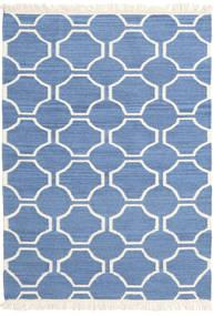 London - Niebieski/Kość Słoniowa Dywan 120X180 Nowoczesny Tkany Ręcznie Niebieski/Beżowy (Wełna, Indie)