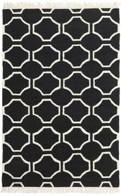 London - Czarny/Kość Słoniowa Dywan 120X180 Nowoczesny Tkany Ręcznie Czarny/Beżowy (Wełna, Indie)